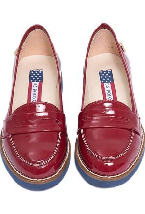 U.S. Polo Assn. Kız Çocuk K6Contes Ayakkabı Kırmızı