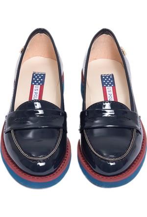 U.S. Polo Assn. Kız Çocuk K6Contes Ayakkabı Lacivert