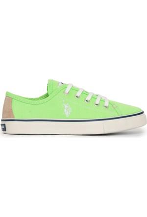 U.S. Polo Assn. Kadın Kaley-Int Sneaker Ayakkabı Yeşil