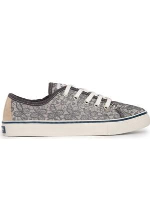 U.S. Polo Assn. Kadın Sage-Int Sneaker Ayakkabı Gri