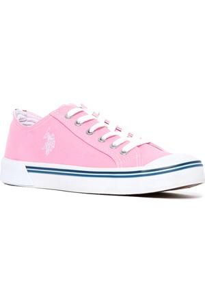 U.S. Polo Assn. Kadın Y7Linen Sneaker Ayakkabı Pembe