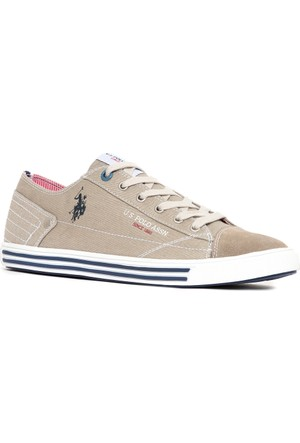 U.S. Polo Assn. Erkek Y7Loka Sneaker Ayakkabı Bej