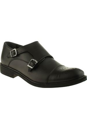 Alisolmaz 1230 Tokalı Klasik Siyah Erkek Ayakkabı