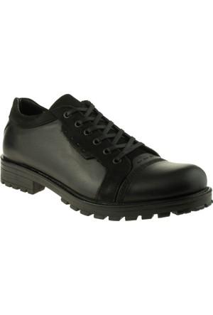 Jump 14258 Casual Deri Siyah Erkek Ayakkabı