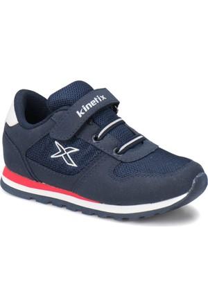 Kinetix Lotus Mesh Lacivert Kırmızı Beyaz Erkek Çocuk Sneaker Ayakkabı