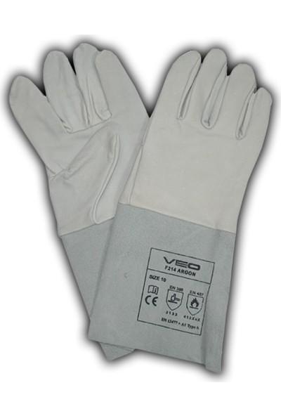 Eldiven Deri Argon Kaynakçı İçin 10 No Beyaz Max Safety