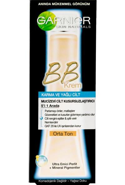 Garnier BB Krem Mucizevi Cilt Kusursuzlaştırıcı Karma/Yağlı Ciltler Orta Ton 40ML