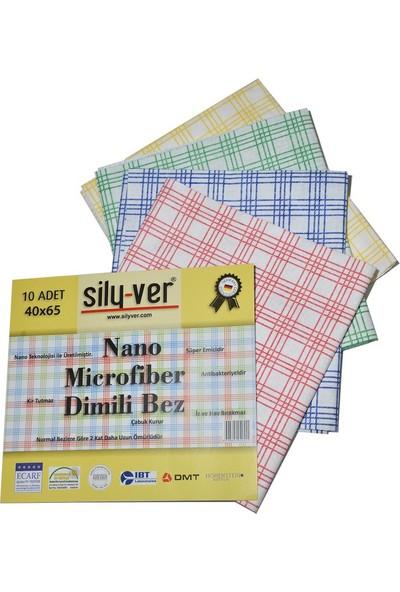 Sily-ver Nano Dimili Mikrofiber Temizlik Bezi 40 x 65 10'lu