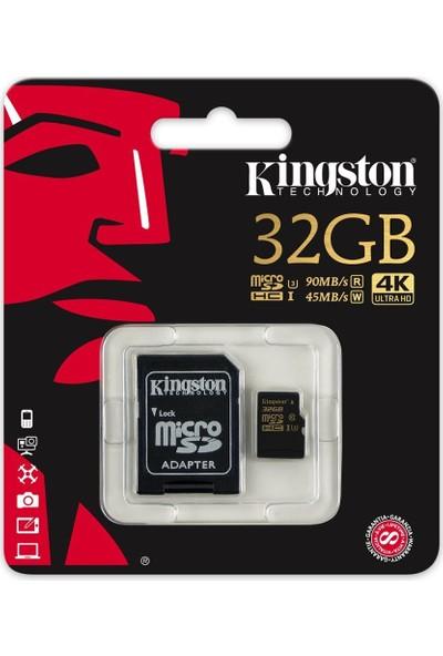 Kingston 32GB Microsdhc Class U3 UHS-I 90R/45W SDCG/32GB Hafıza Kartı