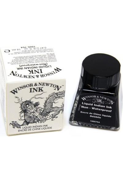Winsor & Newton Çini Mürekkebi 14Ml - Liquid Indian Ink