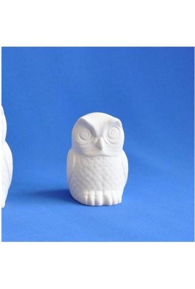 Seramik Obje - Baykuş Biblo Küçük 6,5X6X8 Cm
