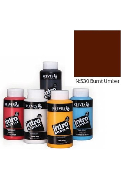 Reeves Intro Akrilik Boya 500Ml - N:530 Burnt Umber