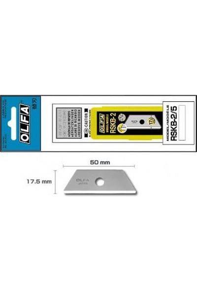 Olfa Rskb-2/5B Emniyetli Maket Bıçağı Yedeği 5'Li Tüp (Sk-3,Sk-4,Sk-5,Sk-9,Utc-1 İçin)