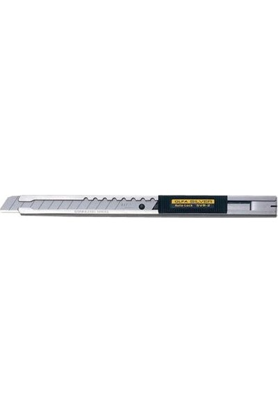 Olfa Svr-2 Otomatik Kilitlemeli Metal Gövdeli Dar Maket Bıçağı