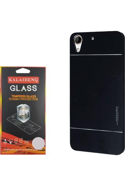 Gpack Htc Desire 828 Kılıf Sert Arka Kapak Motomo Case +Cam