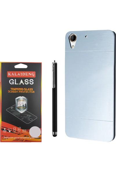 Gpack Htc Desire 828 Kılıf Sert Arka Kapak Motomo Case +Kalem +Cam