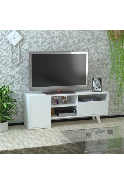 Kalender Dekor Gandalf TV Sehpası (Beyaz)