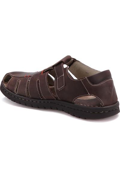 Freemood K021-901 M 4033 Kahverengi Erkek Deri Sandalet