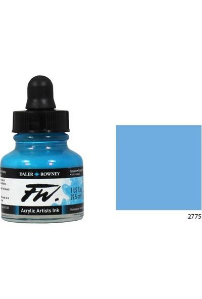 Daler Rowney Fw Ink Likit Akrilik 29.5Ml - Process Cyan 2775