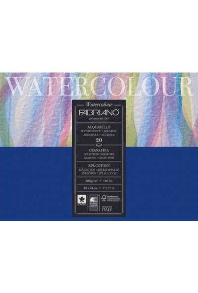 Fabriano Watercolor Studio, İnce Dokulu Suluboya Blok - 300Gr. 24X32Cm