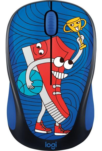 Logitech M238 Kablosuz Mouse The Doodle Collection Sneaker Head 910-005050