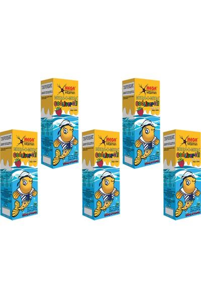 Mega Vitamin - Mega-O-Mega Sıvı Balık Yağı 240 ml - 5 Adet