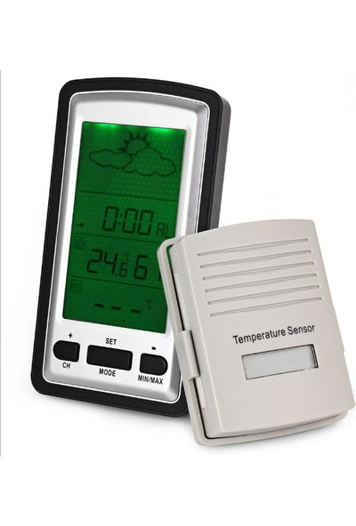 Kablosuz İç ve Dış Mekan Termometre ve Nem Ölçer thr106