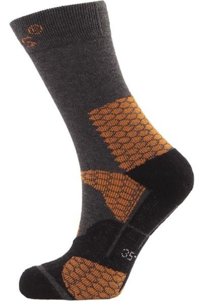 2AS Thermolite Trekking Çorap Siyah / Turuncu