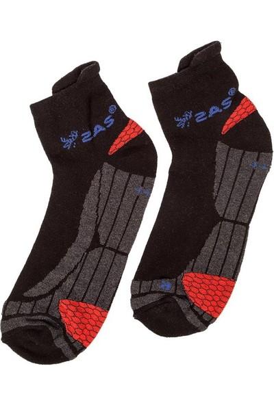 2AS Coolmax Koton Koşu Çorabı Siyah / Kırmızı