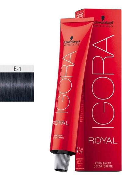 Schwarzkopf Igora Royal E.1 Saç Boyası Teknik Renkler 60ml