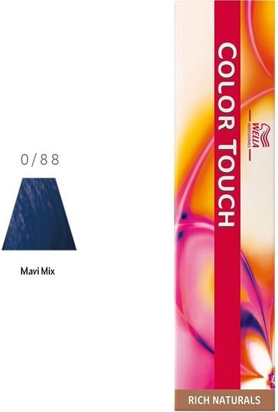 Wella Color Touch 0.88 Mavi Mix Saç Boyası 60ml
