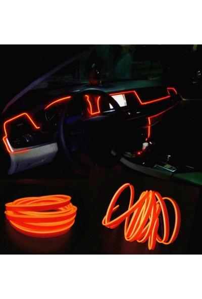 ModaCar Turuncu Araç İçine Neon Kablo 2 Metre 378817