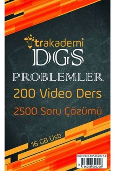 Tr Akademi Dgs Problemler Video Eğitim Seti 16 Gb Flash Bellek