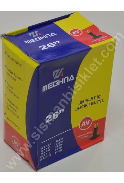 Meghna 26X1.75/2.125 48 mm Av İç Lastik Uzun Sibop