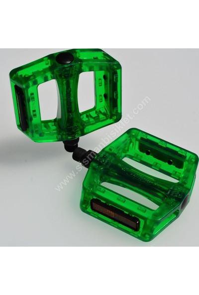 Xlc Bmx Pedal Transparan Yeşil Wellgo Üretimi
