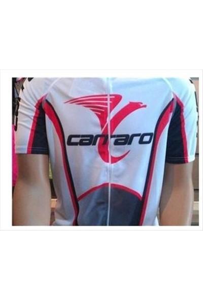Carraro Bisiklet Forması Beyaz/Kırmızı/Siyah