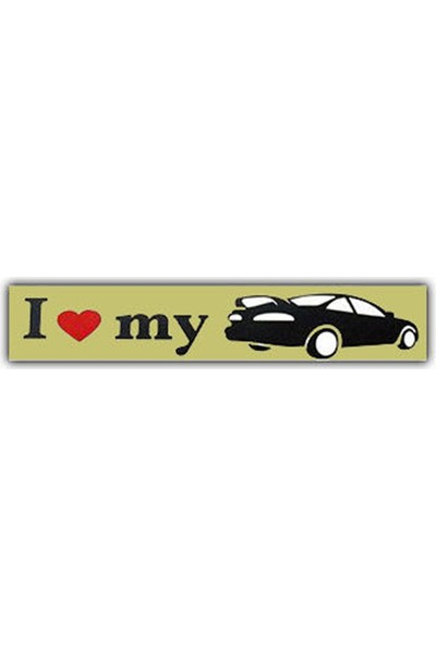 Nettedarikcisi Ozy I Love My Car Yazı Araba Oto Sticker ( 3,5Cm * 14Cm )