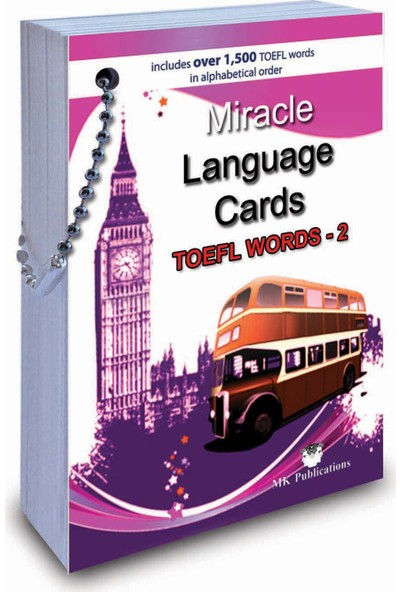 Miracle Language Cards (TOEFL Words-2) (Kelime Kartı) - Murat Kurt