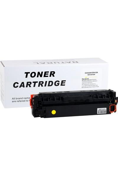 Natural Hp CC532A/CE412A Sarı Toner CP2025 2320 Pro 400 Canon LBP7200(CRG 718)