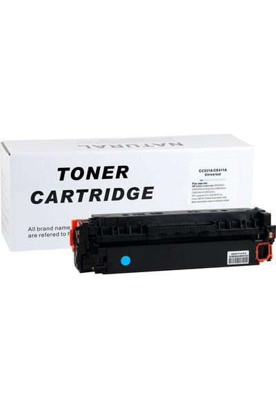 Natural Hp CC531A/CE411A Mavi Toner CP2025 2320 Pro 400 Canon LBP7200(CRG 718)