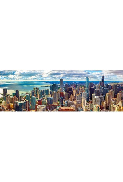 Dino Puzzle 1000 Parça Chicago (Panorama Puzzle)