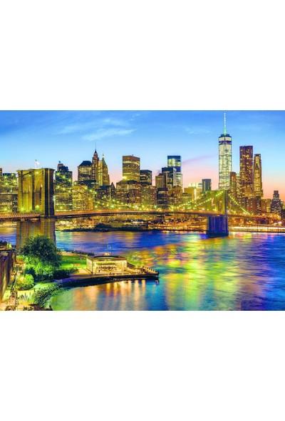 Dino Puzzle 1500 parça Brooklyn Köprüsü Manzarası Puzzle