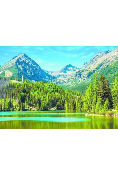 Dino Yamaçtaki Göl 1500 Parça Puzzle