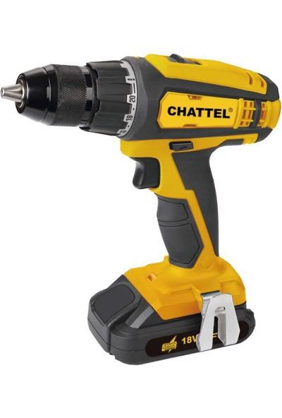 Chattel 4118 Lityum Akülü Şarjlı Matkap 18V 2Amper