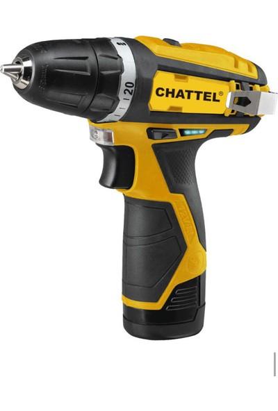 Chattel 4112 Lityum Akülü Şarjlı Matkap 10.8V 2Amper