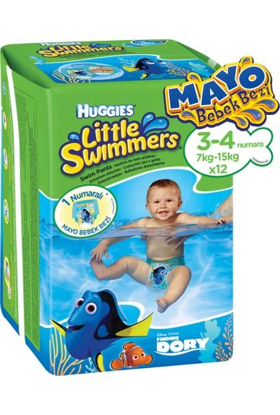 Huggies Little Swimmers Mayo Bebek Bezi 3-4 Beden 12 Adet