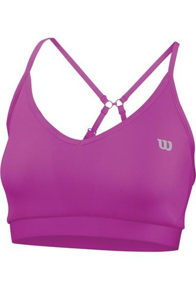 Wilson Camı Bra Sporcu Sütyeni - Rose Violer (M) ( WRA734605 )