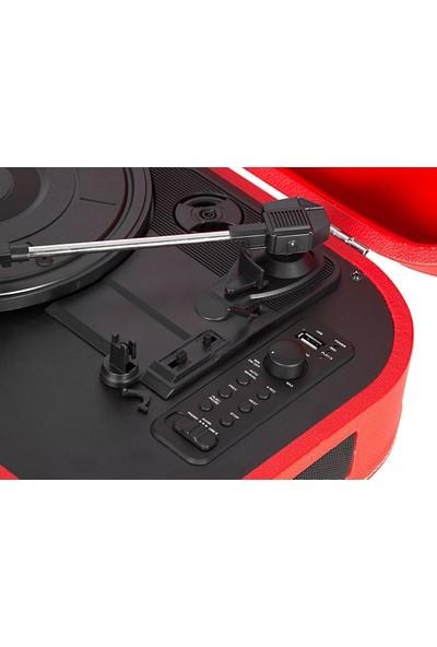 Mikado Nostalgia MN-101 Kırmızı USB + RCA + Bluetooth Destekli Müzik Kutusu