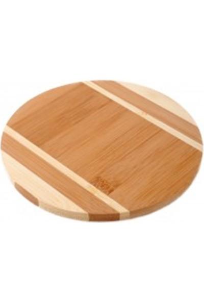 Queen's Kitchen Bambu Yuvarlak Nihale 3'Lü Asorti Desen (29759)