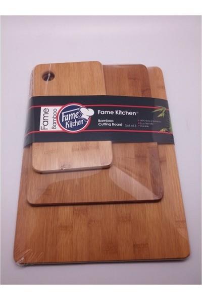 Queen's Kitchen Bambu 3'lü Kesme Tahtası (29762)